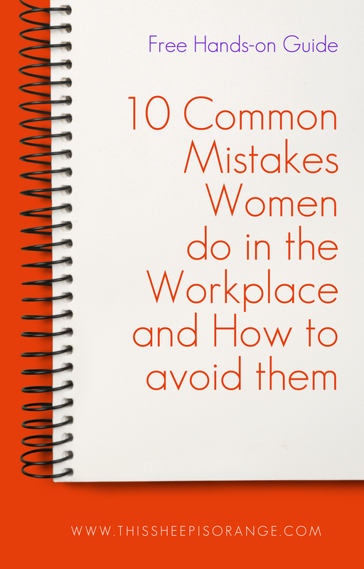 cover of the hands-on guide 10 common mistakes women do in the workplace and how to avoid them