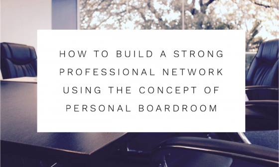 this is the feature image how to build a strong professional network using the concept of personal boardroom published on the blog for women in business and leadership this sheep is orange