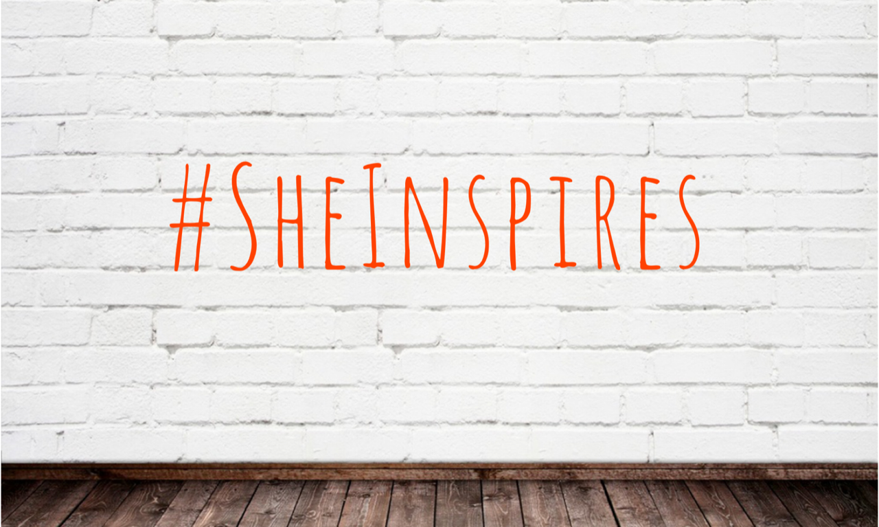 this is the featured image of the serie she inspires introducing inspiring women on this sheep is orange the blog women in business and leadership