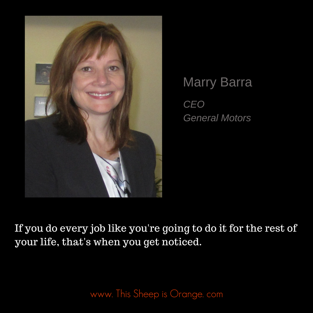 quote of marry barra CEO of General Motors