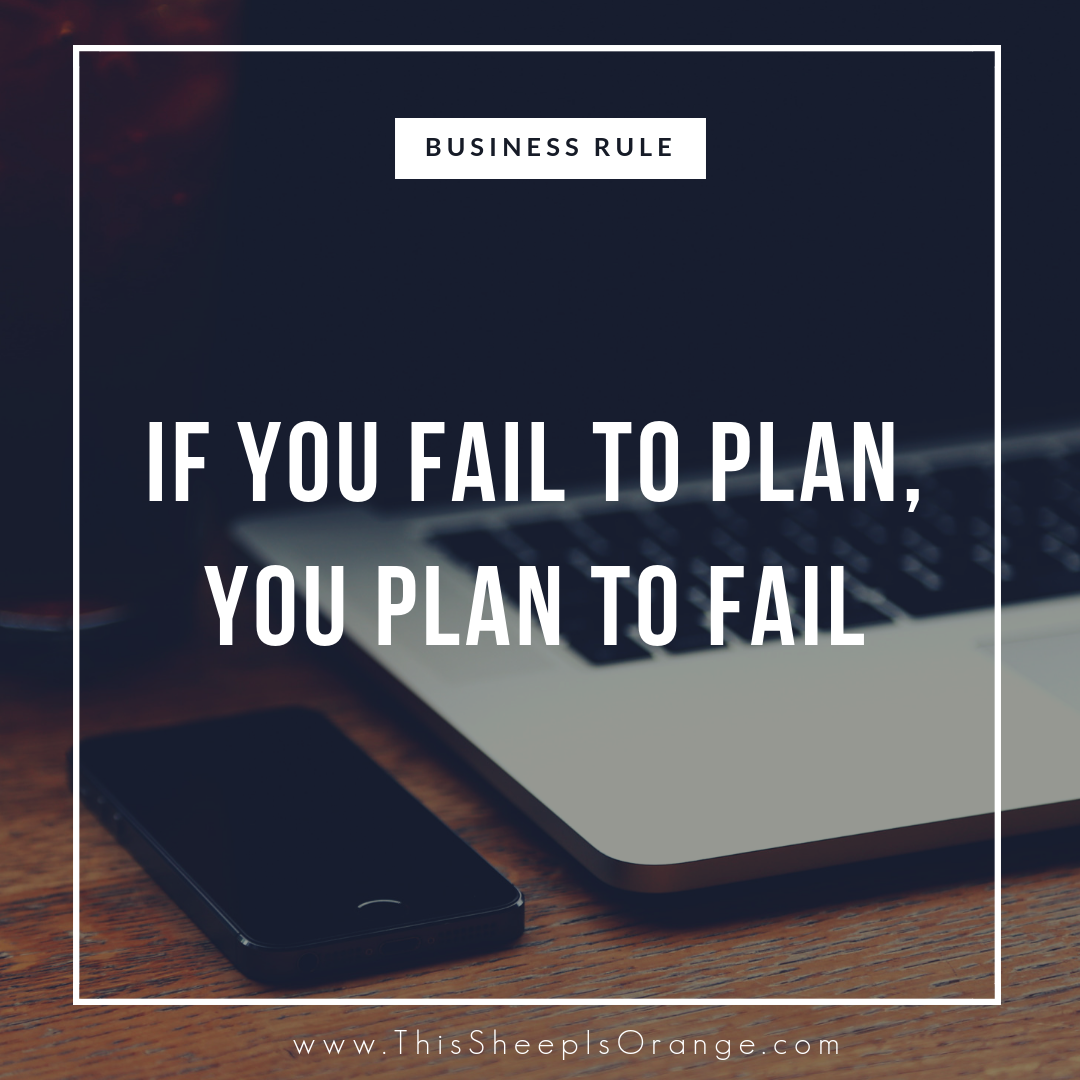 quote in a frame if you fail to plan, you plan to fail