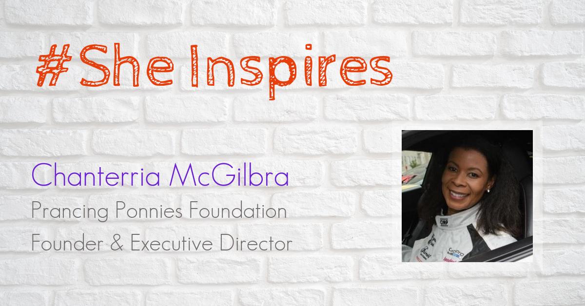 Chanterria McGilbra founder and executive director prancing ponies foundation