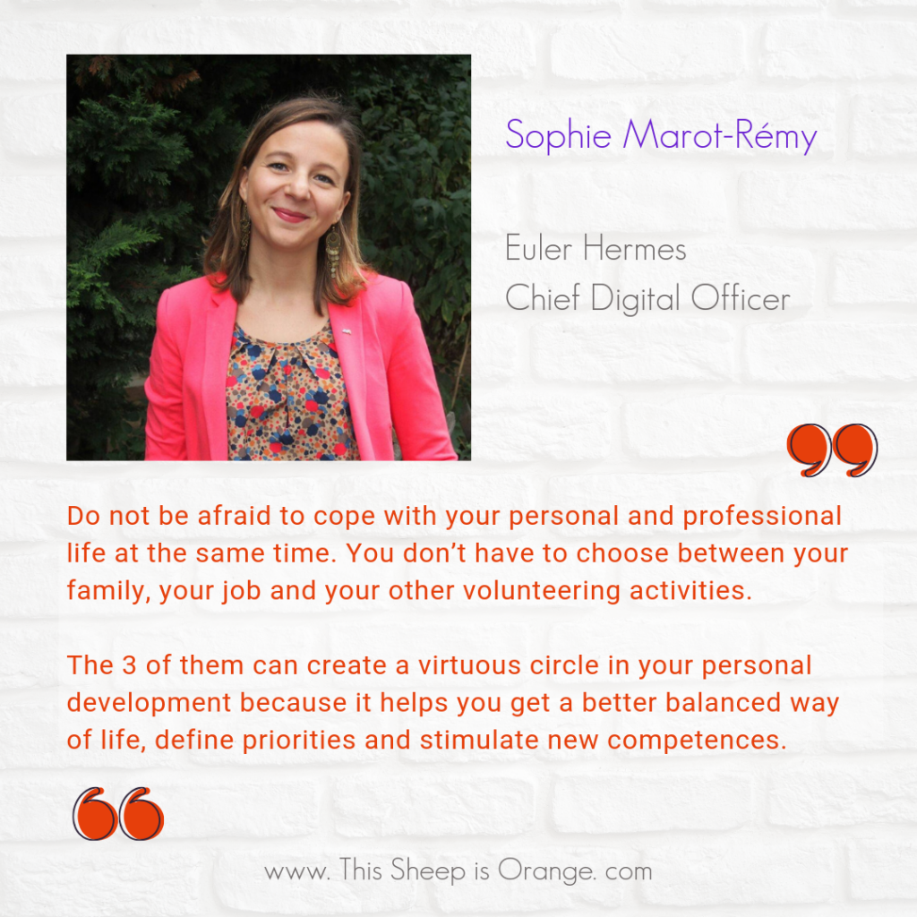 quote of Sophie Marot Remy extrqct of her interview on this sheep is orange blog