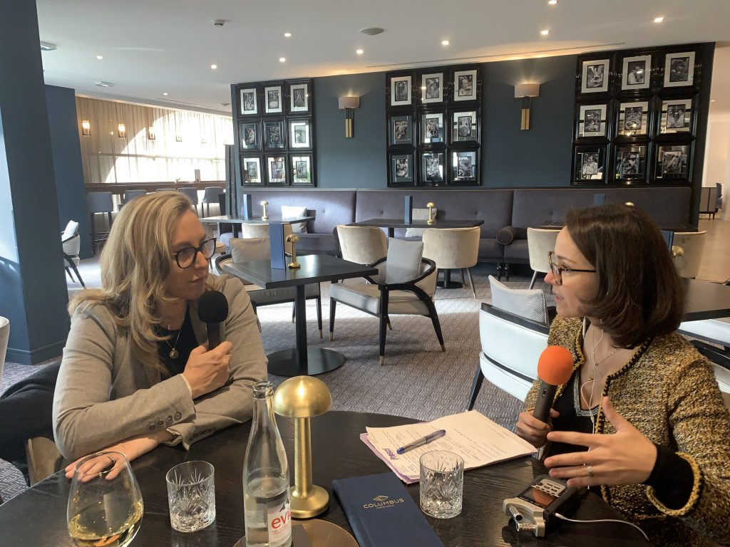 recording of the podcast episode of SuperWomen of Monaco with Natasha Frost Savio