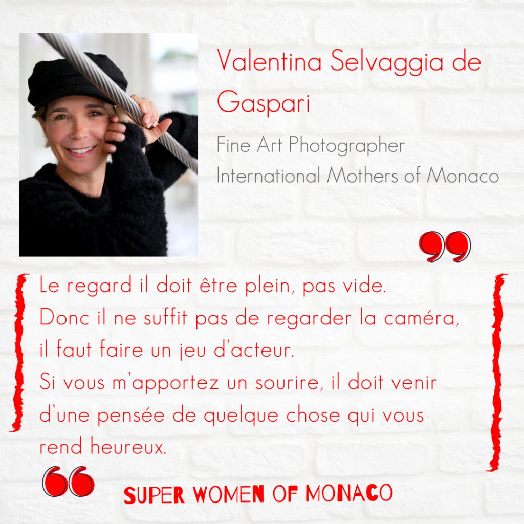 Citation de Valentina Selvaggia de Gaspari pour le podcast Super Women of Monaco